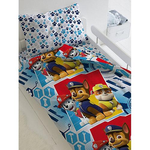 Детское постельное белье 1,5 сп Непоседа «Щенячий патруль. Щенки наготове» - голубой