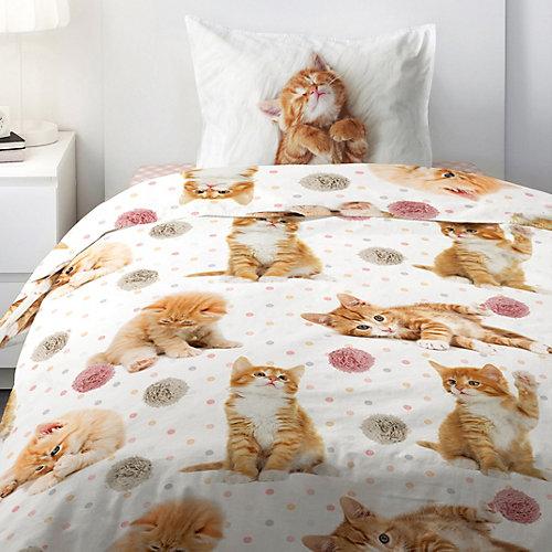 Детское постельное белье 1,5 сп 4 YOU Cute kittens - белый