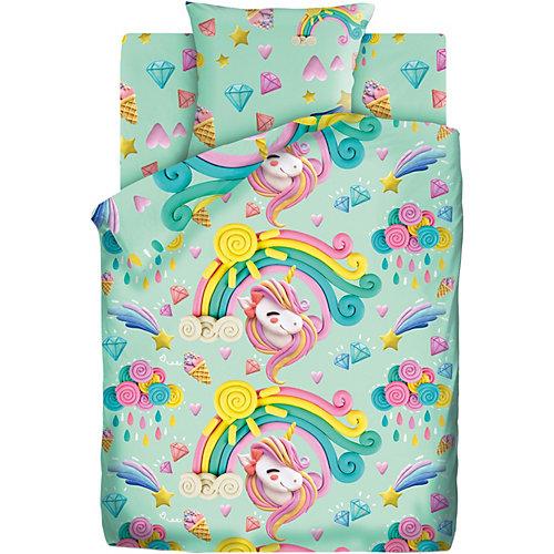 Детское постельное белье 1,5 сп Непоседа «Пластилиновый мир» - зеленый от Непоседа