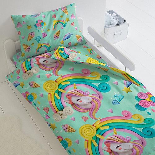 Детское постельное белье 1,5 сп Непоседа «Пластилиновый мир» - зеленый