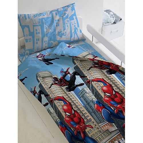 Детское постельное белье 1,5 сп Непоседа «Человек Паук. Городские герои» - голубой от Непоседа