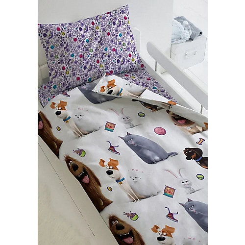 Детское постельное белье 1,5 сп Непоседа «Тайная жизнь домашних животных» - белый от Непоседа