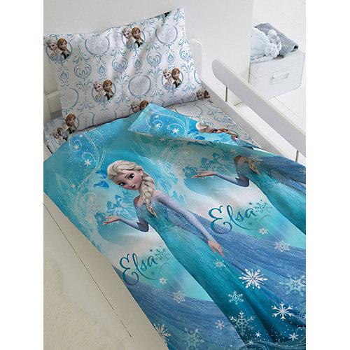 Детское постельное белье 1,5 сп Непоседа «Холодное сердце. Эльза» - голубой