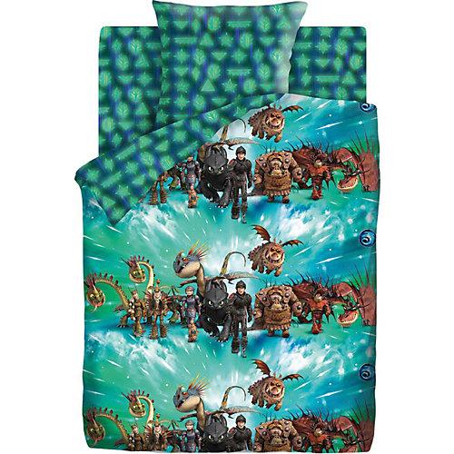 Детское постельное белье 1,5 сп Непоседа «Как приручить дракона. Викинги и драконы» - бирюзовый от Непоседа