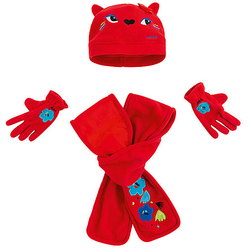 Комплект Tuc-Tuc: шапка, шарф и перчатки - красный от Tuc Tuc