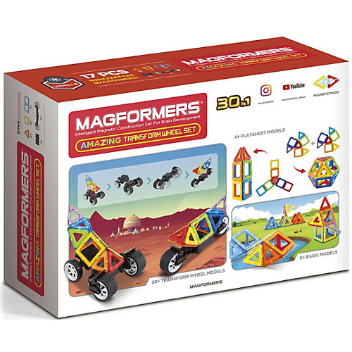 Магнитный конструктор MAGFORMERS Amazing Transform Wheel Set от MAGFORMERS