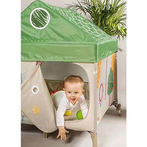Манеж Happy Baby Alex Home бежево-зелёный от Happy Baby