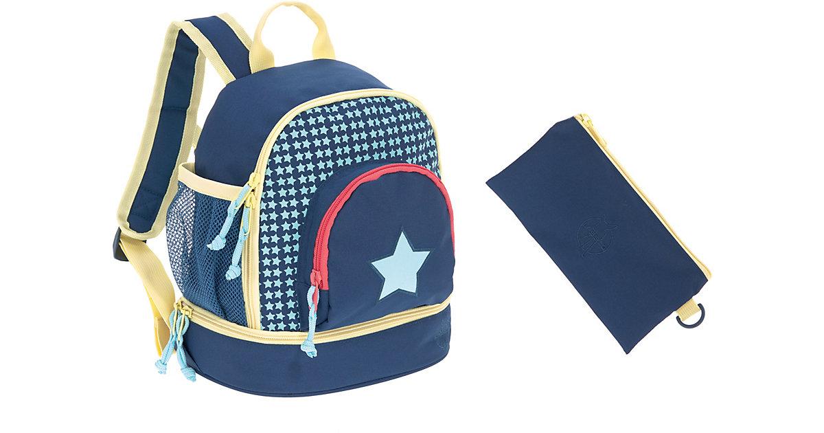 LÄSSIG Kindergarten Rucksack 4kids, Mini Backpack, Exclusiv, Starlight blau