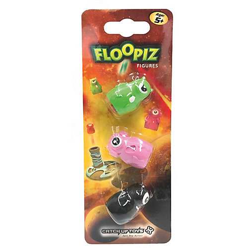 Дополнительный набор CATCHUP TOYS Floopiz Figures, black, pink, green от Catchup Toys