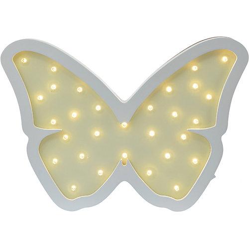Светильник настенный Ночной лучик «Бабочка», желтый от Ночной Лучик