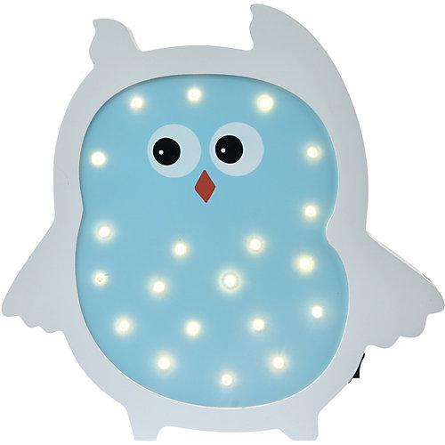 Светильник настенный Ночной лучик «Сова», голубой от Ночной Лучик
