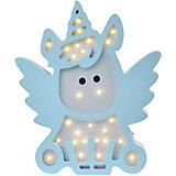 Светильник настенный Ночной лучик «Летающие единороги», голубой