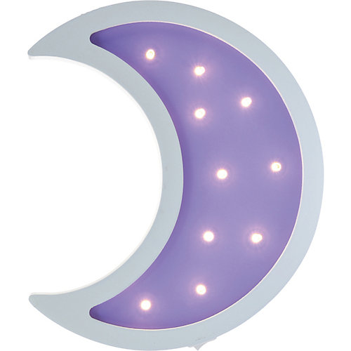 Светильник настенный Ночной лучик «Лунный месяц», фиолетовый от Ночной Лучик