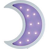 Светильник настенный Ночной лучик «Лунный месяц», фиолетовый