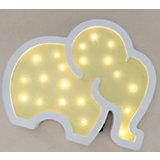 Светильник настенный Ночной лучик «Слоник», желтый