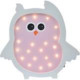Светильник настенный Ночной лучик «Сова», розовый