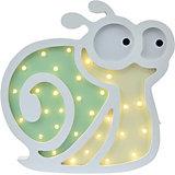 Светильник настенный Ночной лучик «Любопытная улитка», зеленый/желтый