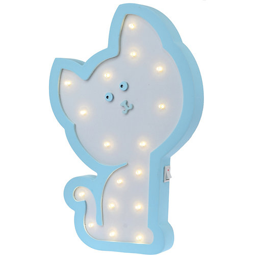 Светильник настенный Ночной лучик «Котенок Гав», голубой от Ночной Лучик
