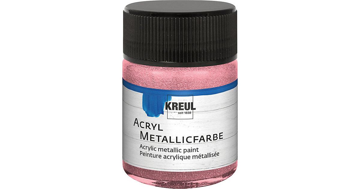 Acryl Metallicfarbe Rosa 50 ml Glas
