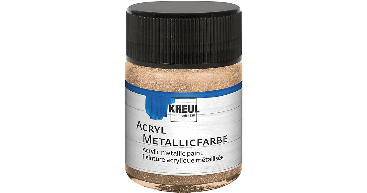 Acryl Metallicfarbe Champagner 50 ml Glas