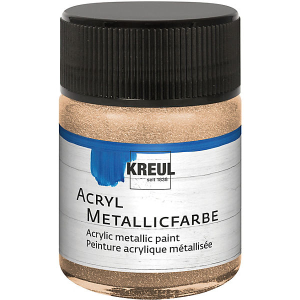 Acryl Metallicfarbe Champagner 50 ml Glas