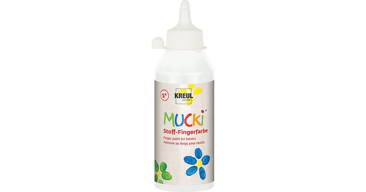MUCKI Stoff-Fingerfarbe Weiß 250 ml Flasche