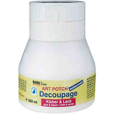 Art Potch Decoupage Kleber & Lack seidenmatt 250 ml Dose