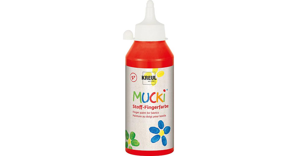 MUCKI Stoff-Fingerfarbe Rot 250 ml Flasche