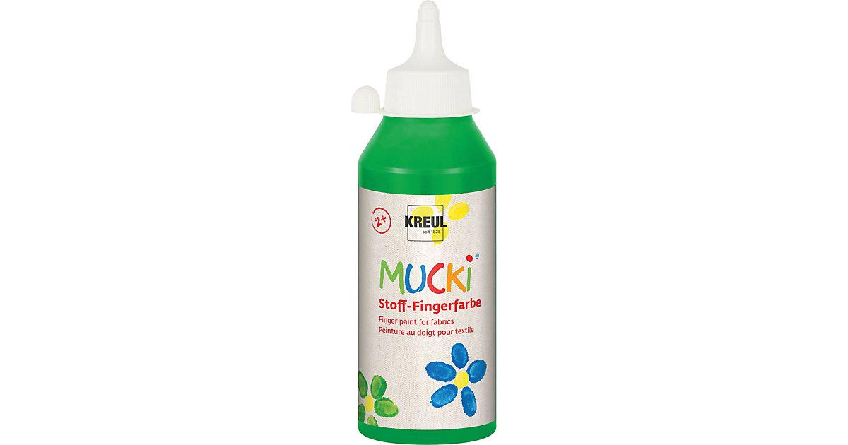 MUCKI Stoff-Fingerfarbe Grün 250 ml Flasche