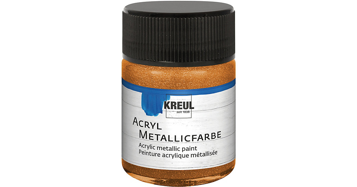 Acryl Metallicfarbe Goldbronze 50 ml Glas