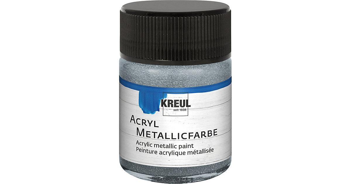 Acryl Metallicfarbe Silber 50 ml Glas