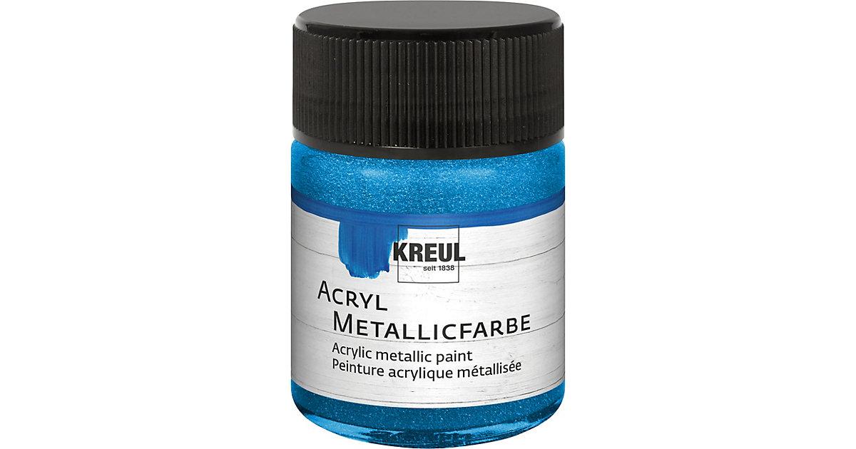 Acryl Metallicfarbe Blau 50 ml Glas
