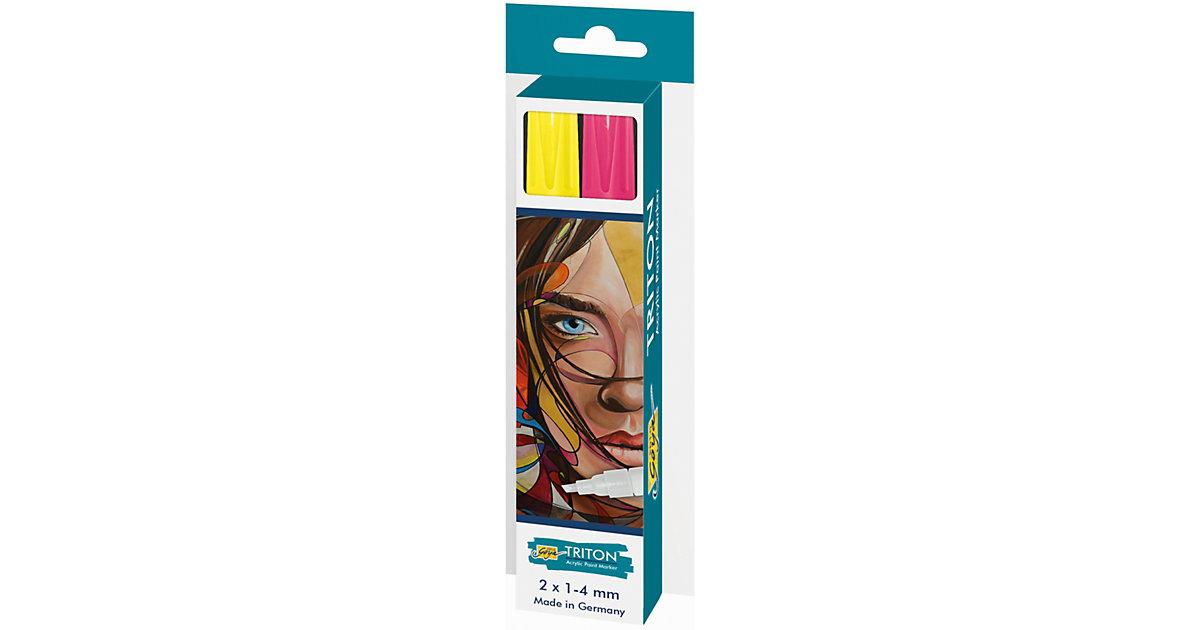 Acrylic Paint Marker 1.4 2er Set, gelb/pink fluor.