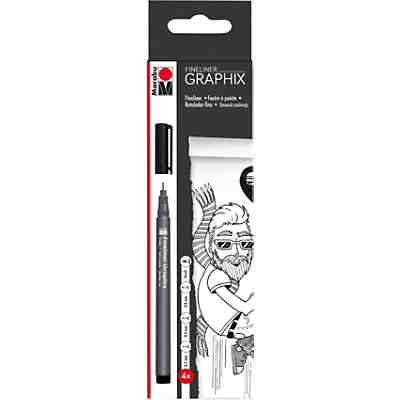 Fineliner black 4 tlg.