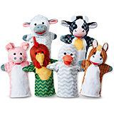 """Мягкая игрушка Melissa&Doug """"Плюшевые куклы на руку"""" Животные с фермы"""