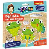 "Набор для творчества Bondibon ""Аппликация: веселые лягушки"", 3 шт"