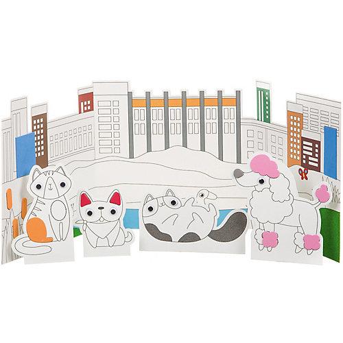 """Набор для творчества Bondibon """"3 в 1: фреска, аппликация, раскраска"""" от Bondibon"""