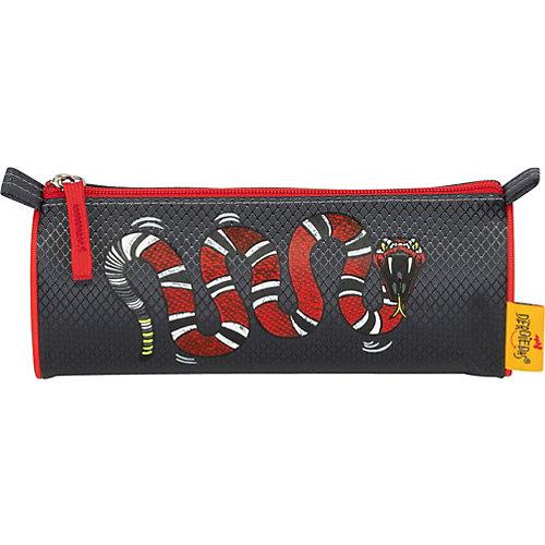 Ранец Derdiedas Ergoflex Огненный змей, c наполнением - черный/розовый от DerDieDas