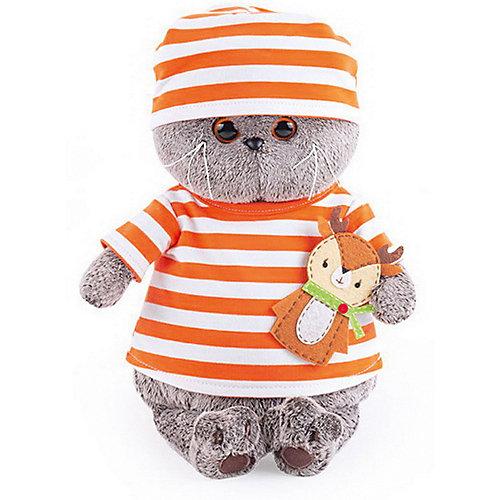 Мягкая игрушка Budi Basa Кот Басик в полосатой футболке с олененком, 22 см от Budi Basa