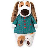 Мягкая игрушка Budi Basa Собака Бартоломей в рубашке, 27 см