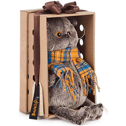 Мягкая игрушка Budi Basa Кот Басик в костюме с бантом, 19 см от Budi Basa