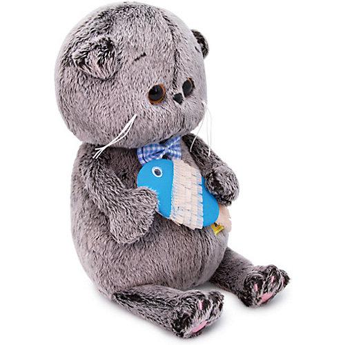 Мягкая игрушка Budi Basa Кот Басик BABY с рыбкой, 20 см от Budi Basa