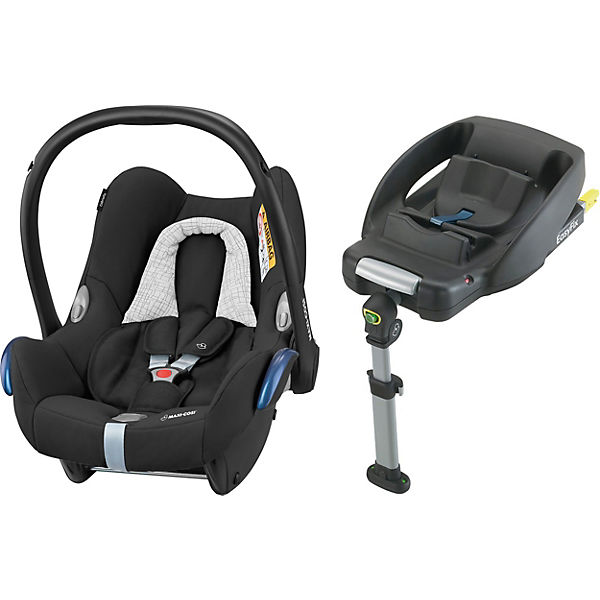 Babyschale Cabriofix inkl. Basis EasyFix, Black Grid
