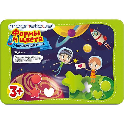 """Игровой набор MAGNETICUS """"Формы и Цвета"""" (металлическая коробка) от Magneticus"""