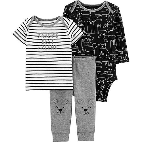 Комплект для новорожденного Carter's - черный/серый от carter`s
