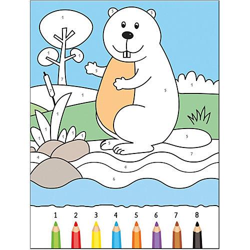 Книга для творчества Раскрашиваем по цифрам В реке, О. Мозалева от Мозаика-Синтез