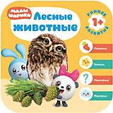Развивающая литература Малышарики. Курс раннего развития 1+ Лесные животные, Д. Денисова