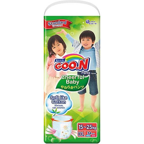 Подгузники-трусики Goon Cheerful Baby XXL  15-25 кг. 34 штуки от Goon