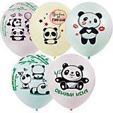 Воздушные шары Macaroons, панды, 25 шт, ассорти