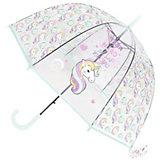 Зонт прозрачный «ЕДИНОРОГ» голубой